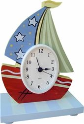"""Ahoy Mate! Handmade-in-the-USA Wooden Table Clock for the Nursery or Child's Room. Use Code """"pinned"""" at aimeej.com and Save 10% off purchase."""