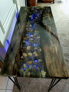 amazing resin wood table ideas for your home furnitures resin furniture home furniture Wood Resin Table, Wooden Tables, Resin Table Top, Wood Slab Table, Into The Woods, Resin Furniture, Cool Furniture, Modern Furniture, Table Furniture
