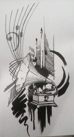 Vitrola (desenho Eder Ramos)