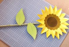 DIY Tutorial: Paper Crafts / DIY Tutorial: Beautiful Paper Sunflowers - Bead&Cord