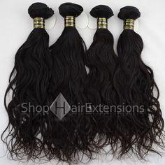 Natural Black Virgin Brazilian Remy Hair Bundles