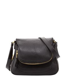 The dream buy. Medium Adjustable-Strap Flap Messenger Bag, Black by Tom Ford at Bergdorf Goodman.