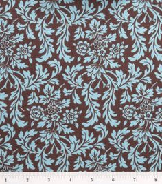 Stonehill Collection-Floral Damask Blue/Brw: premium quilting fabric: quilting fabric & kits: fabric: Shop | Joann.com I need to find this in a wide bolt--perfect for covering my tables!