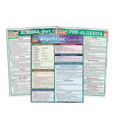 Another great find on #zulily! Algebra Reference Set by BarCharts #zulilyfinds