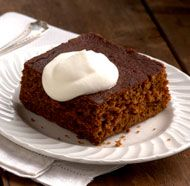 Ginger Cake - This cake is very much like a traditional gingerbread, except that it's made with buttermilk and is extra tender and moist. Serve it on its own with lightly sweetened whipped cream, or use it to make Ginger Cake Trifles.