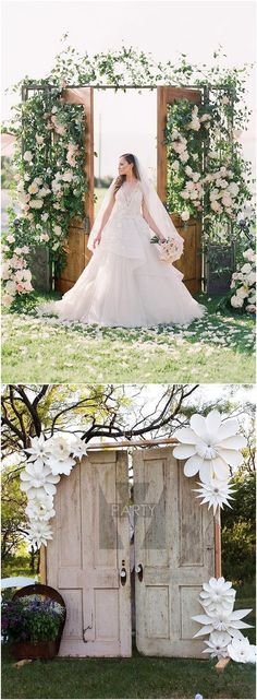 Rustic Old Door Wedding Decor Ideas for Outdoor Country Weddings #weddings #weddingideas #rusticweddings