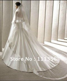 Free Shipping wedding Bridal veil 3M Wedding Long Veils Satin Ribbon Top Quality Veils in Ivory / White Color on AliExpress.com. 5% off $45.59