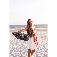 #usa #merica #flag #whitedress in beach photo shoot by @eleephoto featuring Ivy Boutique!