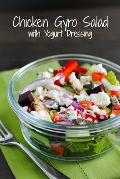 Looking for Fast & Easy Appetizer Recipes, Chicken Recipes, Lunch Recipes, Side Dish Recipes! Recipechart has over free recipes for you to browse. Find more recipes like Chicken Gyro Salad with Yogurt Dressing. Healthy Cooking, Healthy Eating, Cooking Recipes, Healthy Recipes, Skinny Recipes, Healthy Food, Appetizer Recipes, Salad Recipes, Dinner Recipes