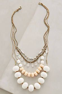 Sparkled Peche Bib Necklace - anthropologie.com