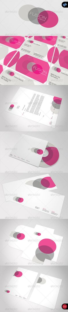 Fusion Stationary & Corporate Identity Set - GraphicRiver Item for Sale
