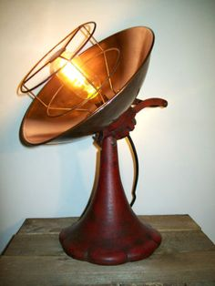 Up-Cycled-Vintage-Copper-Heater-Adjustable-Industrial-Steampunk-Table-Desk-Lamp