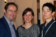 Eric Decastro, Sandra Mann, Bea Emsbach  Photo: Dagmar Wolff  Ausstellungseröffnung/ Opening WAR IS OVER! Kunstraum Dreieich/Artspace Frankfurt