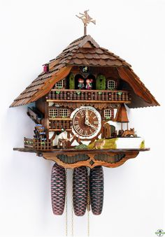 Chalet Cuckoo Clock With Weather Figurine