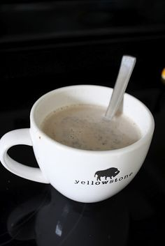 The Pollock Potluck: homemade cinnamon dolce latte My Coffee Shop, I Love Coffee, Coffee Coffee, Yummy Treats, Sweet Treats, Yummy Food, Organic Soy Milk, Fall Recipes, Snack Recipes