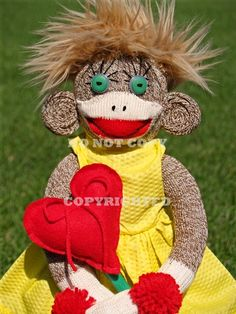 For you Debbie!!!  crazy sock monkey