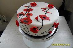 Hand Painted Poppy cake | Craftsy