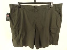 CHAPS NEW MENS $70 GRAY Big & Tall RIPSTOP CASUAL CARGO SHORTS sz 48 #Chaps #Cargo