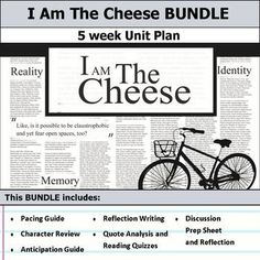I am the Cheese Unit Socratic Method, Pacing Guide, Theme Words, Think Deeply, Thesis Statement, Unit Plan, Author Studies, Group Work, Thinking Skills