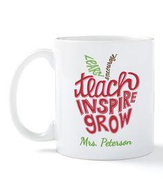 Loving this 'Teach, Inspire, Grow' Personalized Mug on #zulily! #zulilyfinds