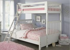 Give your daughter the bed of her dreams! This Twin Over Full Bunk Bed Set by Liberty Furniture is a sure thing for even the pickiest girls! #Sherman's #girlsroom #bunkbed