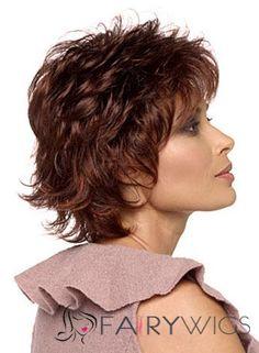 Lovely Cheap Human Hair Ebony Short Wigs