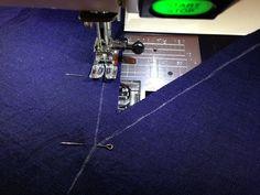 Как втачать деталь с острым углом