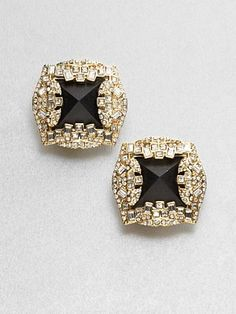 Alexis Bittar Jewel-Framed Lucite Earrings