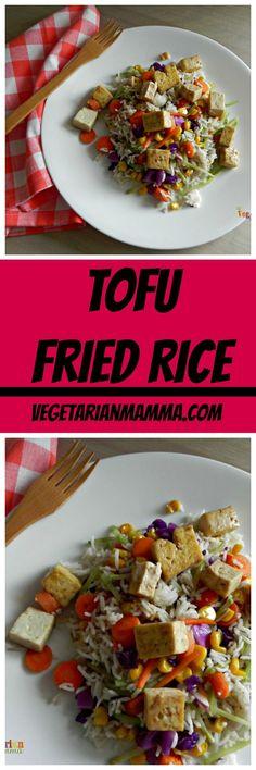 Tofu Vegan Fried Rice @vegetarianmamma.com #glutenfree #vegan #tofu