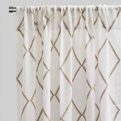 Katie Curtain Panels   Size 54x96   Color Beige   Rodeo Home