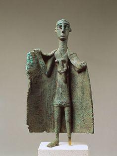 "Sardinian Nuragic Bronze ""Capotribu"" (Chief of the Herdsmen).  Nuragic civilization (1700B.C./ 200B.C)"