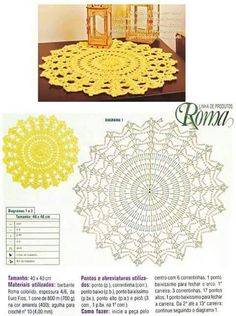 Luty Artes Crochet: tapetes de crochê crochet chart pattern // for felted rug, Would be a sweet Mandala rug, pinned for diagramLair knitting and crochet 3 motives of crochet tablecloth Doily pattern (no photo of finished doily) Discover thousands of Filet Crochet, Col Crochet, Crochet Doily Rug, Crochet Placemats, Crochet Doily Diagram, Crochet Patron, Crochet Dollies, Crochet Diy, Crochet Circles