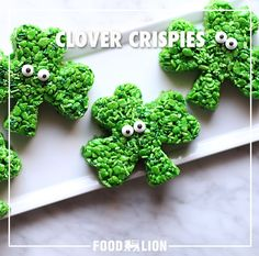 Who needs four leaf clovers when you have these cuties? Have fun this St. Patrick's Day with this recipe for a sweet treat.