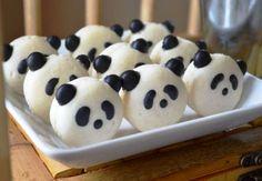 Sunny by Design: Panda Tea Party, Panda macarons, Fresh Bakes Panda Birthday Party, Panda Party, Bear Party, Birthday Parties, Panda Cupcakes, Torta Baby Shower, Mademoiselle Cupcake, Macarons, Babybel