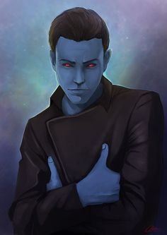 Thrawn by Katakanasta. #KissAChiss #GetThrawnIn #InStarWarsRebels