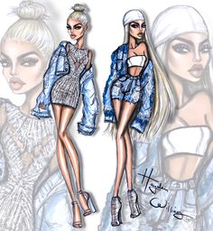 Modern Cinderella left & Bratz realness on the right! Loved these looks from Kylie Jenner at NYFW