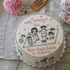 Korea Cake, Decorated Cakes, Buttercream Cake, Beautiful Cakes, Cake Ideas, Cake Decorating, Cheesecake, Korean, Simple