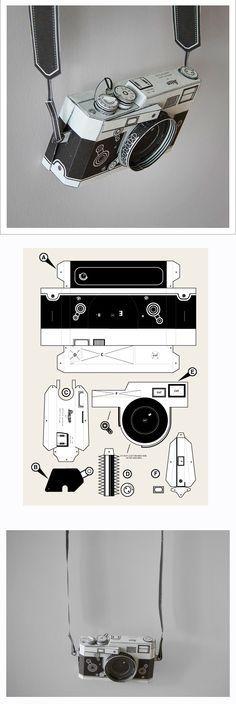 DIY paper Leica camera by Matthew Nicholson PDF £3.00