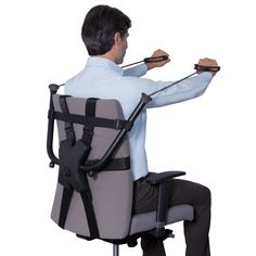 The Office Chair Strength Trainer - Hammacher Schlemmer