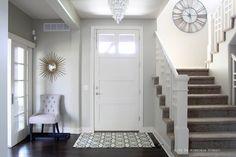 Entryway Design - wall color is Behr Castle Path