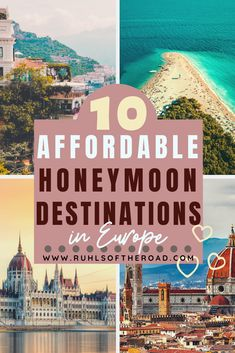 10 Incredible Budget Honeymoon Destinations in Europe - YAY You are married! Now time to plan a honemoon! We have a list of 10 incredible budget honeymoon - Honeymoon Destinations On A Budget, Europe Destinations, Honeymoon Ideas, Budget Travel, Travel Europe, Honeymoon Pictures, Europe Budget, Travel Tips, Travel Usa