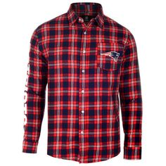 This New England Patriots Wordmark Flannel Button Up Long Sleeve Tshirt from Klew will set your fandom that is extreme for your entire coworkers to find out on display!