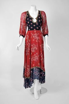 A Thea Porter gypsy dress from the Liz Goldwyn Collection. Photo by Amanda Charchian