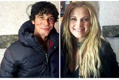 Bob Morley and Eliza Jane Taylor on the set of The 100 season 3 || The 100 cast Behind the Scenes || Bellamy Blake and Clarke Griffin || Bellarke || Beliza || The 100 s3