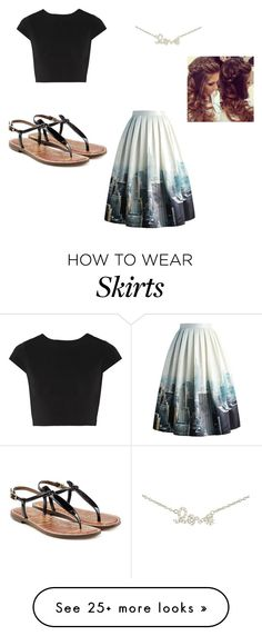 """""""Obsessed with this skirt"""" by catarina31 on Polyvore featuring Alice + Olivia, Chicwish, Sugar Bean Jewelry, Sam Edelman, women's clothing, women, female, woman, misses and juniors"""