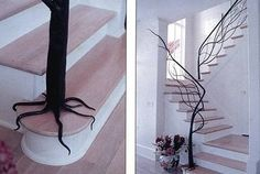 I would love to have this railing on a spiral staircase that leads to an attic walk-in closet.