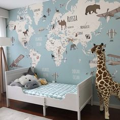 Little Hands Wallpaper - just need to know the exact measure of your wall Cool Kids Bedrooms, Boys Bedroom Decor, Baby Bedroom, Baby Boy Rooms, Chambre Nolan, Little Hands Wallpaper, Kids Bedroom Wallpaper, Ideas Dormitorios, Room Themes