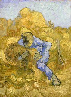 The Athenaeum - The Sheaf-Binder (after Millet) (Vincent van Gogh - )