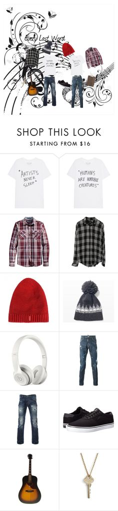 """""""Every Last Word"""" by xxinssanemagicxx on Polyvore featuring American Rag Cie, Club Monaco, Beats by Dr. Dre, Lakai, The Giving Keys, ferm LIVING, men's fashion and menswear"""
