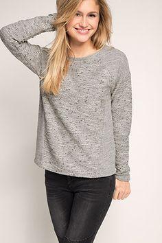 Esprit / Meliertes Sweatshirt aus Baumwoll-Mix